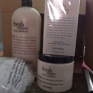Philosophy fresh cream warm cashmere set
